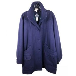 Woolrich Purple Plaid Lined Wool Coat NWT Large